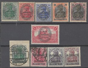 COLLECTION LOT # 1980 ALLENSTEIN 10 STAMPS 1920