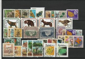 Zimbabwe + Rhodesia Mixed Subject Stamps including Flowers Ref 24954