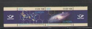 Estonia Sc 617 2009 Europa Astronomy stamp mint NH