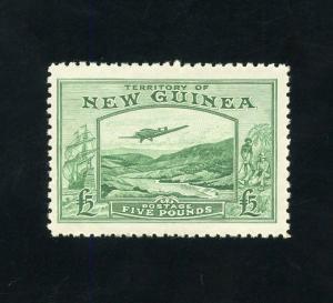 NEW GUINEA 5 L GOLDFIELDS  SCOTT#C45   SG#205   ORIGINAL GUM MINT NH