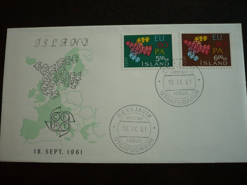 Europa 1961 - Iceland - Set - First Day Cover