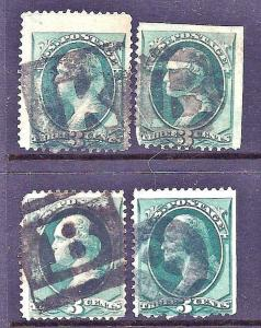 ~Selection of Better US Classic Postage Stamps w/Attractive 1800s Fancy Cancels