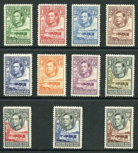 British Bechuanaland SG118/28 1938 KGVI set of 11 Fresh M/Mint (hinge remainder)