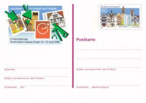 West Germany 1986 60pfg Bad Hersfeld Prepaid Postcard Unused VGC