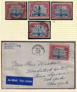 US STAMP BOB AIR MAIL USED STAMPS + COVER COLLECTION LOT #4