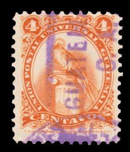 GUATEMALA STAMP 1957. SCOTT # 370. USED. # 7