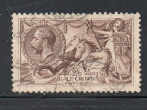 Great Britain Sc 173 1913 2/6d G V & Seahorse stamp used
