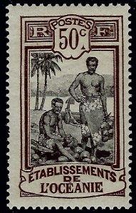 French Polynesia Sc #42 Mint VF...Polynesia is Unique!