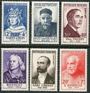 1954 France Semi-Postal Stamps #B285-290 Mint Lightly Hinged VF Original Gum Set