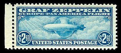 momen US Stamps #C15 Graf Zeppelin OG MNH XF Jumbo PSE