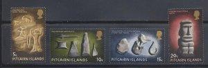 Pitcairn Islands MNH 119-22 Polynesian Artifacts