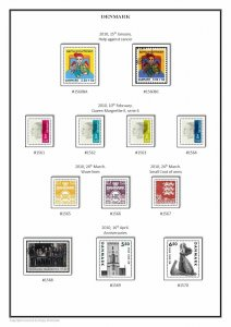 Denmark Danmark 1851-2020 (3 albums) PDF (DIGITAL)  STAMP ALBUM PAGES
