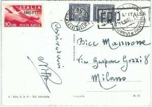71979  - REPUBBLICA - STORIA POSTALE:   AMG-FTT Trieste A su cartolina TASSATA