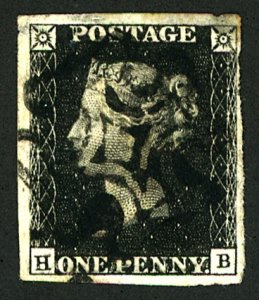 GB #1 USED PENNY BLACK