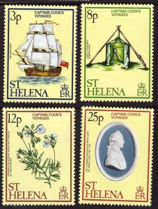 Saint Helena Scott 324-327  MH* Captain Cook voyages stamp set