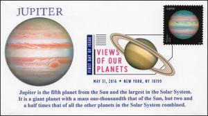 2016, Views of our Planets, Jupiter, Digital Color Postmark, FDC, 16-225