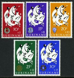 Surinam B122-B126, MNH. Easter charities. Mary Magdalene, Emblems, 1966