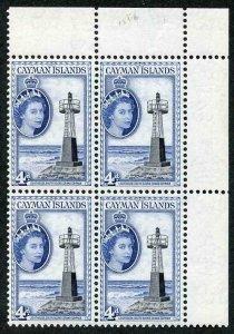 Cayman Is SG155b 4d Black and deep bright blue U/M Block