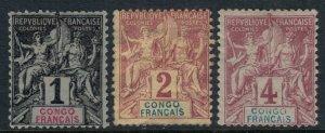 French Congo #18-20*  CV $9.60