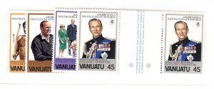Vanuatu, 304-07, 60th B-Day Duke of Edinburgh, G/P, MNH