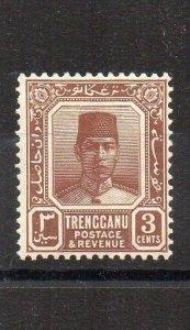 Malaysia - Trengganu 1938 3c reddish brown MH
