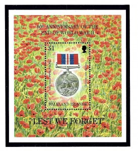Falkland Is 638 MNH 1995 Anniv of End of WWII S/S