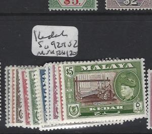 MALAYA KEDAH  (PP2303B) SULTAN SG 92-102  MNH
