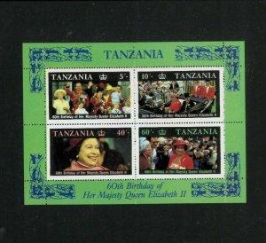 Wholesale Lot Tanzania 336a SS Eliz.II Birthday. Cat.66.00 (33 x 2.00)