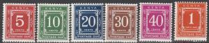 Kenya #J1-5, J7  MNH F-VF CV $6.55 (V3974)