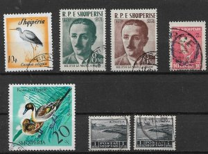 Albania used stamps several issues