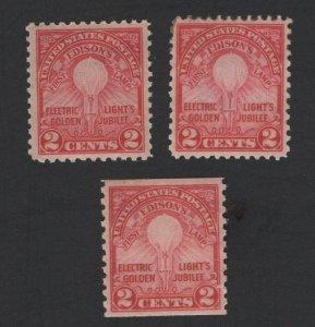 United States MINT Scott Number 654-56 MLH  VF -  BARNEYS