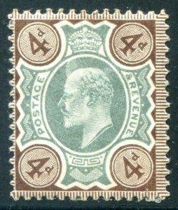 HERRICKSTAMP GREAT BRITAIN Sc.# 133 1902 KE VII Multicolor 4d Mint LH