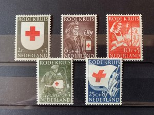 Netherlands 1953 Red Cross Fund Set