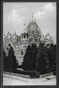 Judaica Photo Postcard Hungary Szeged Synagogue, Religion, Judaism,VF Condition