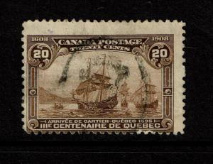 Canada SC# 103 Used /Possible Bottom Perfs w/ Surface Scratch (See Image)- S3503