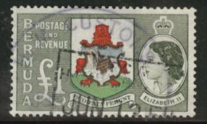 BERMUDA Scott 162 QE2 1953 key 1