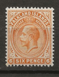 Falkland Is 34 SG 64 WMK 3 MLH VF 1912 SCV $17.50 (jr)