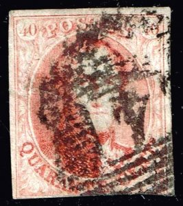 Belgium Stamp 1861 King Leopold I  40C USED RED