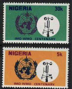 Nigeria Centenary of IMO WMO 2v SG#315-316