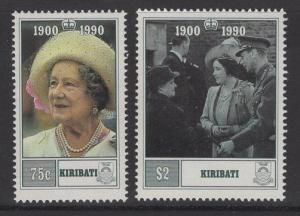 KIRIBATI SG341/2 1990 90TH BIRTHDAY OF QUEEN ELIZABETH MNH