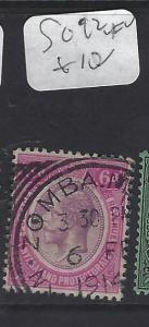 NYASALAND   (P2909B)   KGV  6D  ZOMBA CDS    SG 92   VFU