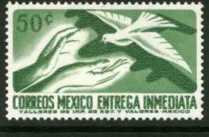 MEXICO E22 50c 1950 Def 7th Issue Fluor printing FRONT MINT, NH. VF.