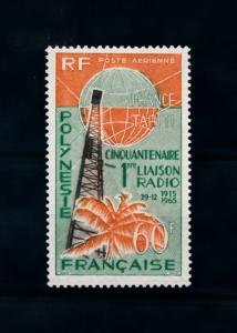 [71579] French Polynesia 1965 Radio Connection Tahiti Paris Airmail Stamp MNH