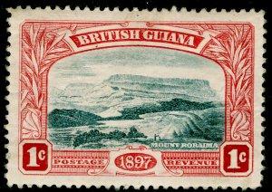 BRITISH GUIANA SG216w, 1c blue-black & carmine-red, M MINT. Cat £11.