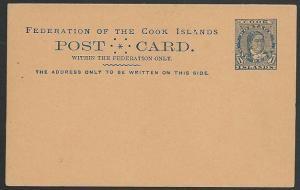 COOK ISLANDS c1900 1d Makea postcard fine unused...........................49410