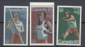 Canada - 1975 Olympics Sport Sc# 664/666 - MNH (8824)