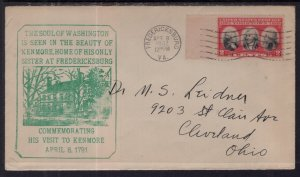 US George Washington's Visit to Kenmore 1932 Cover