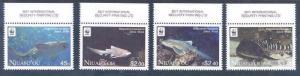 NIUAFO'OU  2012 WORLD WILDLIFE FUND WWF SHARK SET  MINT NH