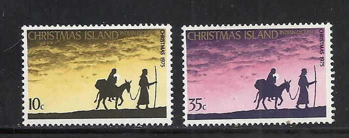 Christmas Island #63-4 comp mnh Scott cv $1.30 Christmas