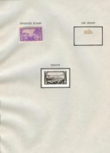 #802E VIRGIN ISLANDS 3¢ ISSUE 1937 B.E.P. PHOTO ESSAY W/ FINISHED STAMP HW2782